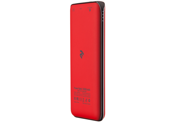 Power Bank 2E 10000 мАч Red Quick Charge