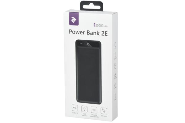 Power Bank 2E 20000 mAh Black