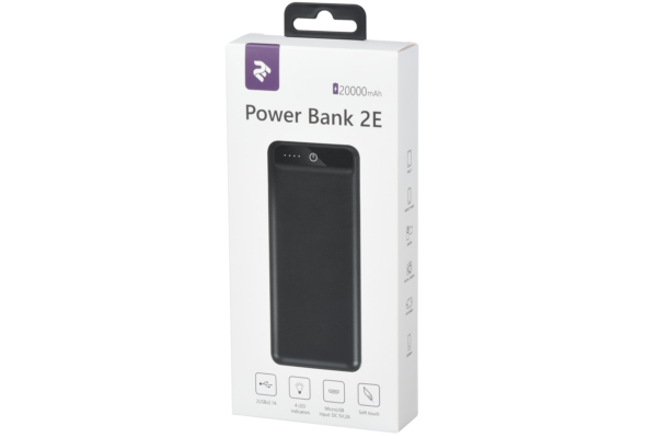 Power Bank 2E 20000 мАг Black