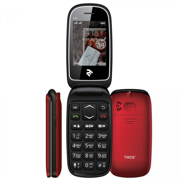 Mobile Phone 2E E181 DualSim Red