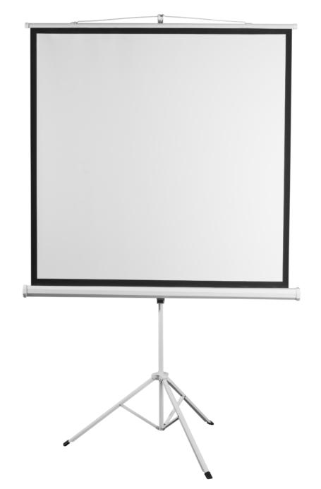 The screen on a tripod 2E, 1:1, 100″, (1.8×1.8 m)