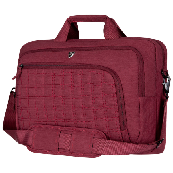 Laptop Bag 2E CBN9198BG, CrossSquares 16″, Burgundy