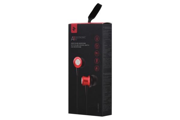 Earphones 2E A1 ErgonomicFit, Red