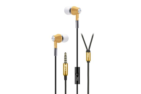 Earphones 2E S2 Metal Skin, Gold