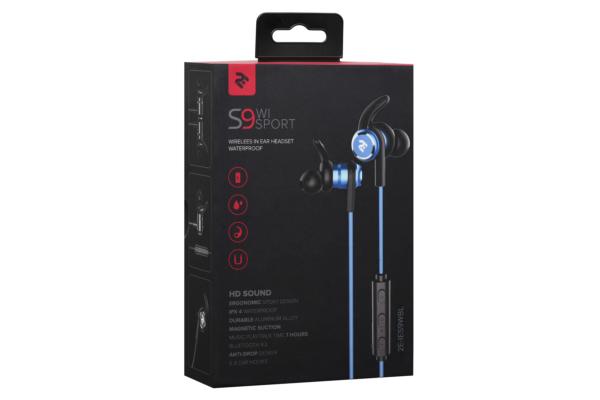 Earphones 2E S9 WiSport, Blue