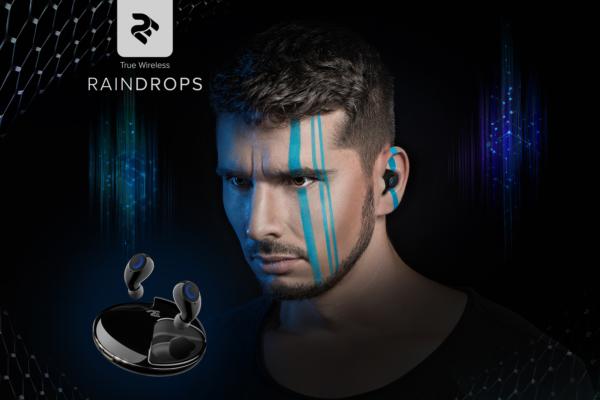 Наушники 2E RainDrops True Wireless, Black