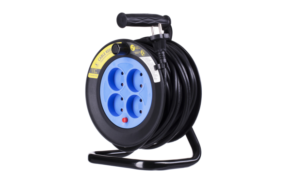 Extension Cord Reel 2E with 4 Plugs, ІР20, 2Gх1.5mm, 15 m