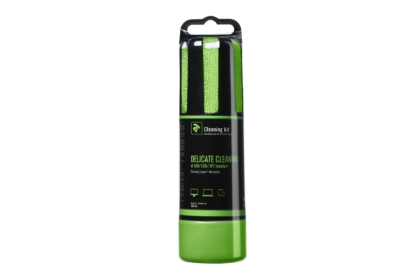 2E Green cleaning kit — 150 ml liquid and round cloth