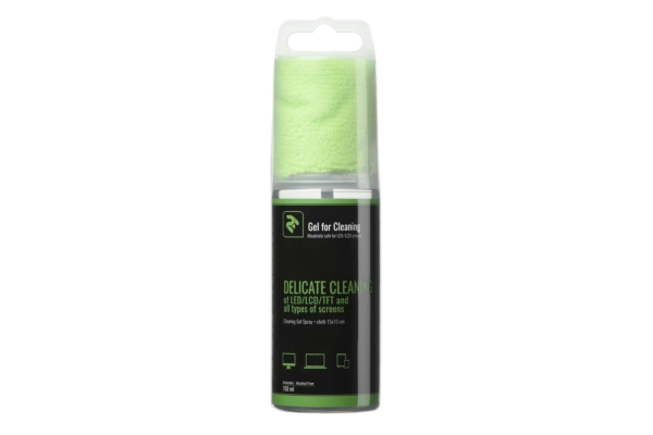 2E cleaning kit — 150 ml gel and 15×15 cm cloth