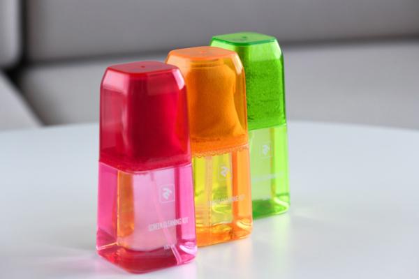 Набор для очистки 2E Lux Yellow — Жидкость 100 мл и салфетка из микрофибры 15×15 см