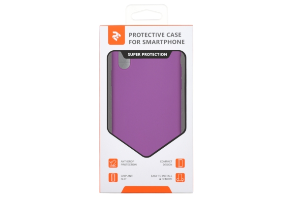 2Е Case for Apple iPhone XS, Liquid Silicone, Purple