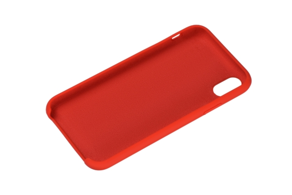 2Е Case for Apple iPhone XS, Liquid Silicone, Red