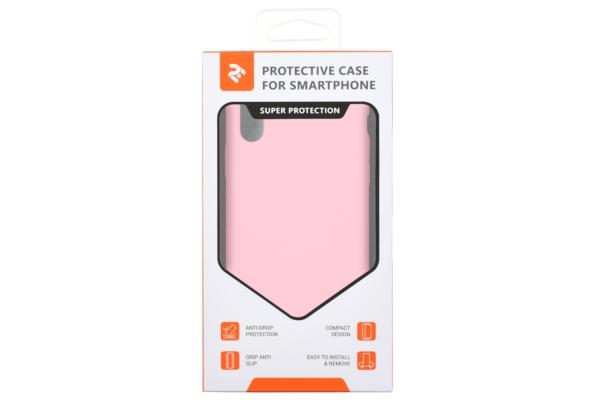 Чохол 2Е для Apple iPhone XS, Liquid Silicone, Rose Pink