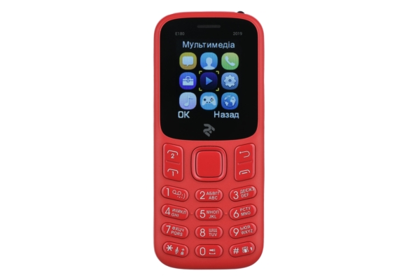 Mobile Phone 2E E180 2019 DualSim Red