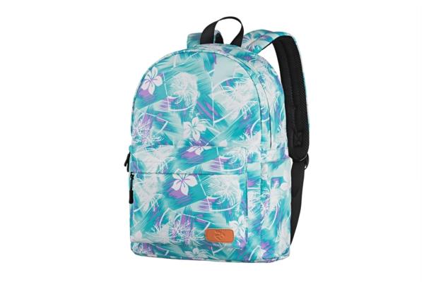 Laptop backpack 2E BPT6114GB, TeensPack Wildflowers, Green/Blue