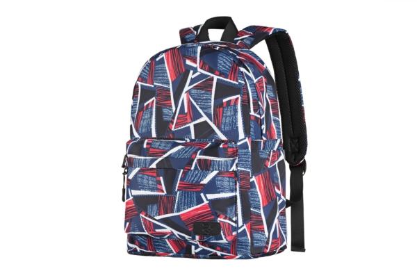 Laptop backpack 2E BPT6114RB, TeensPack Absrtraction, Red/Blue