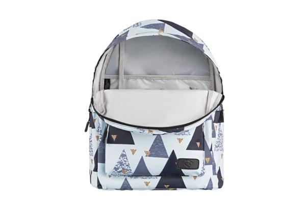 Laptop backpack 2E BPT6114WT, TeensPack Triangles 13″, White