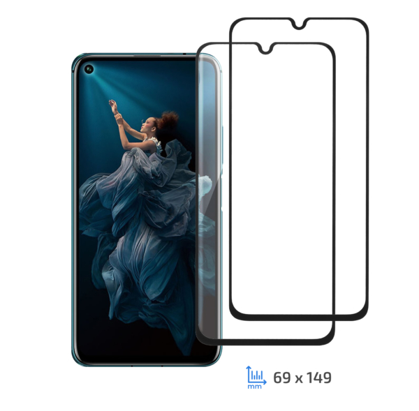 2E 2 in 1 Protective glass set for Honor 20 Pro/Huawei Nova 5T, 2.5D FCFG, Black