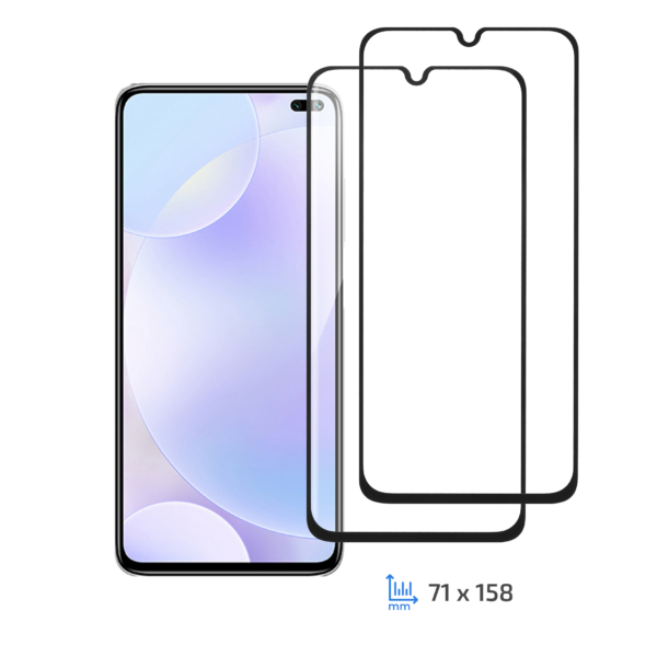Комплект 2 в 1 защитное стекло 2E для Xiaomi Redmi K30, 2.5D FCFG, Black