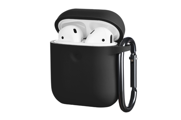 Чехол 2Е для Apple AirPods, Pure Color Silicone (3.0mm), Black