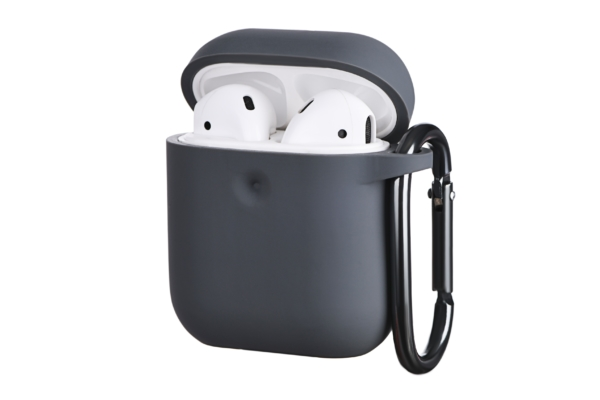 2E earphone case for AirPods, Pure Color Silicone (3.0mm), Carbon Gray