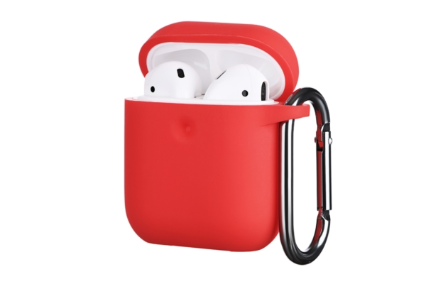 2E earphone case for AirPods, Pure Color Silicone (3.0mm), Red