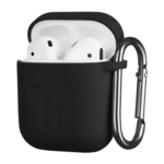 Чехол 2Е для Apple AirPods, Pure Color Silicone Imprint (1.5mm), Black