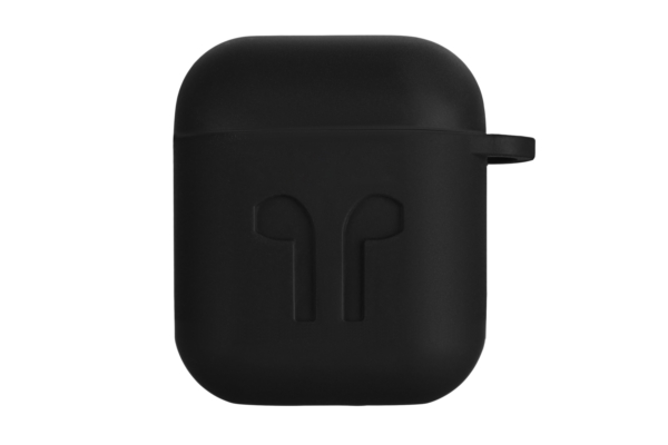 2E earphone case for Apple AirPods, Pure Color Silicone Imprint (1.5mm), Black