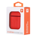 Чохол 2Е для Apple AirPods, Pure Color Silicone Imprint (1.5mm), Rose red