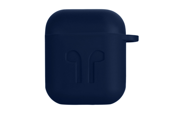 2E earphone case for Apple AirPods, Pure Color Silicone Imprint (1.5mm), Navy