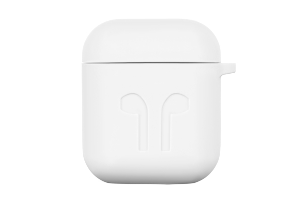 2E earphone case for Apple AirPods, Pure Color Silicone Imprint (1.5mm), White