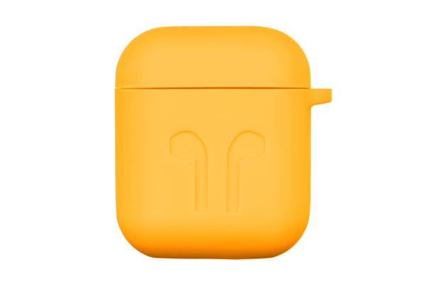 2E earphone case for Apple AirPods, Pure Color Silicone Imprint (1.5mm), Yellow