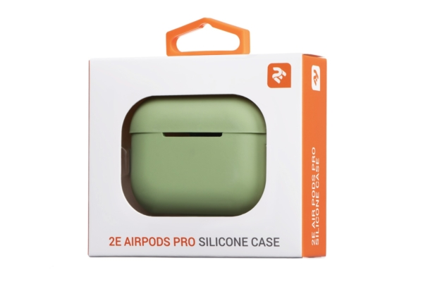 2Е earphone case for Apple AirPods Pro, Pure Color Silicone (2.5mm), Light green