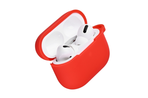 Чехол 2Е для наушников Apple AirPods Pro, Pure Color Silicone (2.5mm), Red