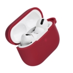 Чохол 2Е для навушників Apple AirPods Pro, Pure Color Silicone (2.5mm), Cherry red