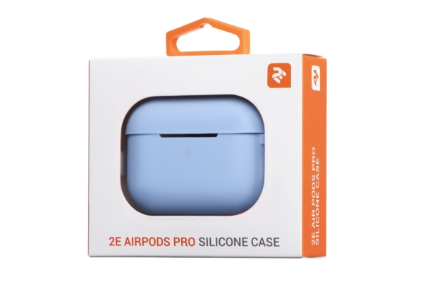 2Е earphone case for Apple AirPods Pro, Pure Color Silicone (2.5mm), Sky blue