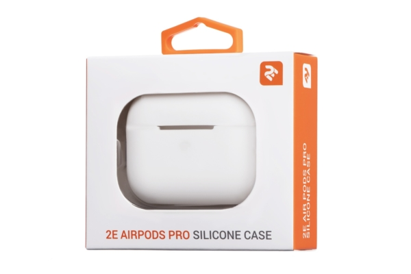2Е earphone case for Apple AirPods Pro, Pure Color Silicone (2.5mm), White