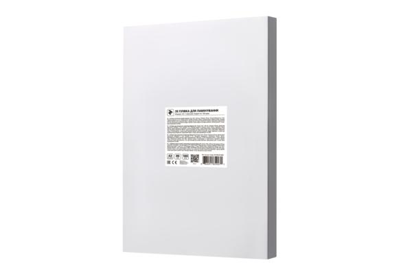 Плівка для ламінування 2E A3, глянсова поверхня, 80 мкм, 100 шт