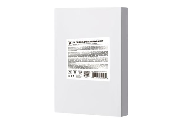 Плівка для ламінування 2E A5, глянсова поверхня, 80 мкм, 100 шт