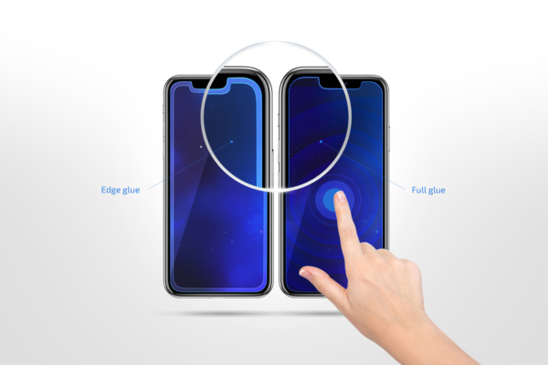 Комплект 2 в 1 защитные стекла 2E для Apple iPhone 7/8 2.5D FCFG, white border