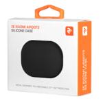 2E earphone case for Xiaomi AirDots, Pure Color Silicone (1.5mm), Black