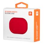 2E earphone case for Xiaomi AirDots, Pure Color Silicone (1.5mm), Red