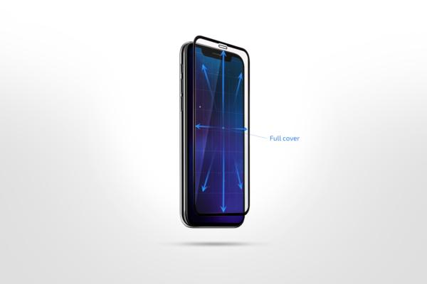 Protective glass 2E Basic for Samsung Galaxy M11 (M115F), 2.5D FCFG, black border