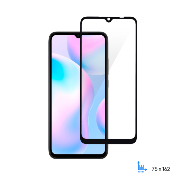 Protective glass 2E Basic for Xiaomi Redmi 9A, 2.5D FCFG, black border