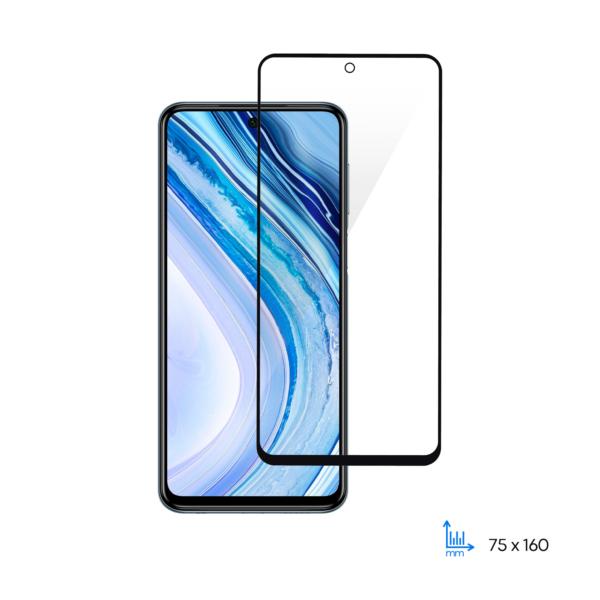 Protective glass 2E Basic for Xiaomi Redmi Note 9 Pro, 2.5D FCFG, black border