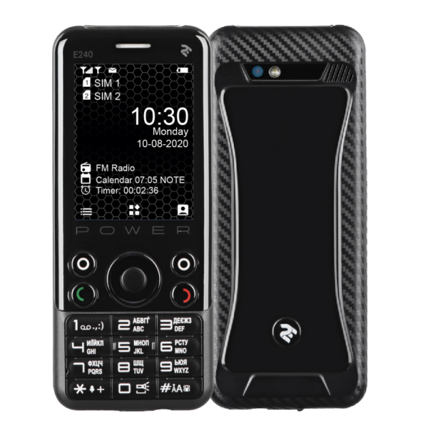 Mobile Phone 2E E240 POWER DualSim Black