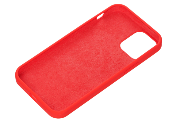 2E Case for Apple iPhone 12 (5.4″), Liquid Silicone, Red