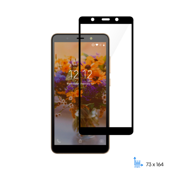 Захисне скло 2E Basic для TECNO POP 3 (BB2), 2.5D FCFG, black border