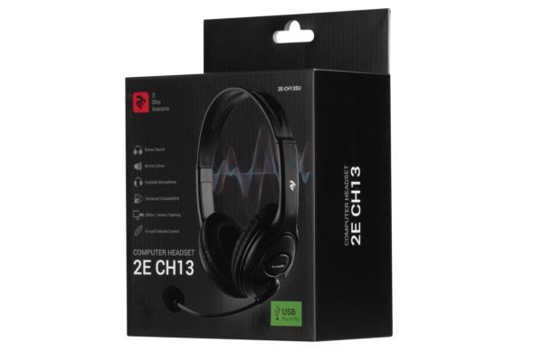 Гарнитура для ПК 2E CH13 USB Black