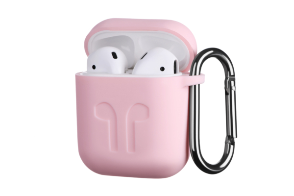 Чохол 2Е для Apple AirPods, Pure Color Silicone Imprint (1.5mm), Light pink